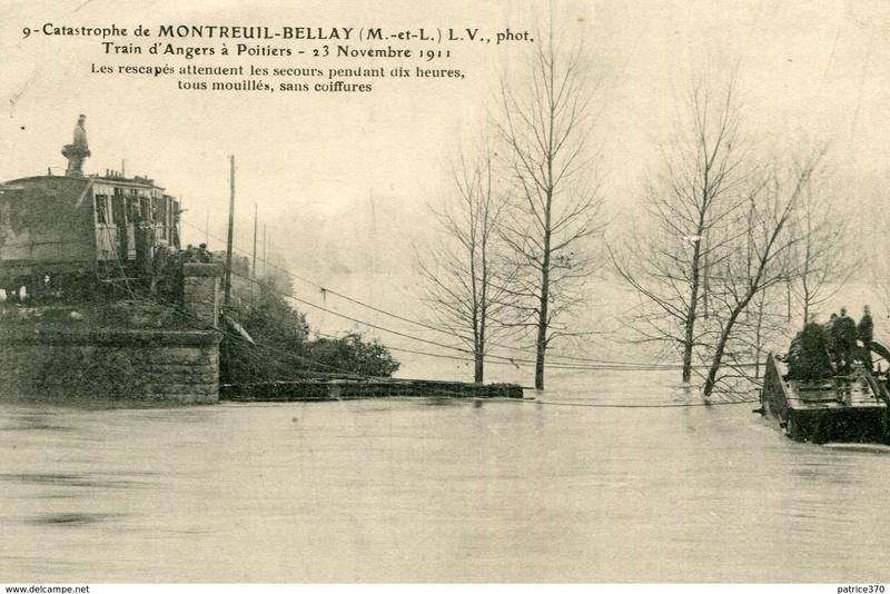 CPA Ponts et catastrophes angevines 1850, 1907, 1911 894_0010