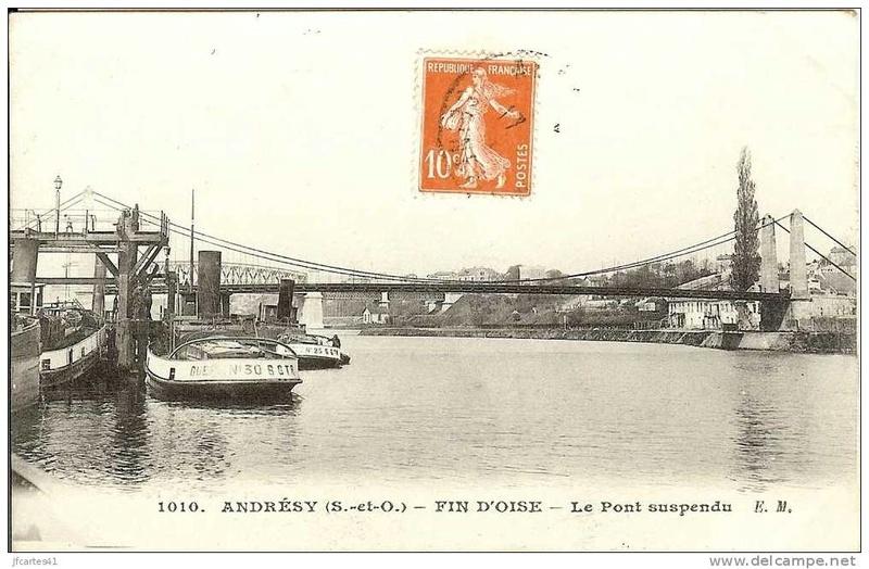 Vieux papiers et CPA : les ponts suspendus de Marc Seguin Andres11