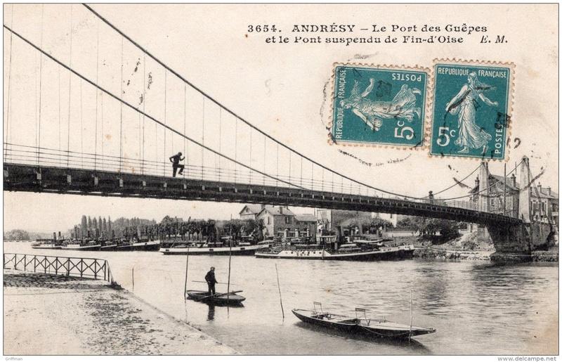 Vieux papiers et CPA : les ponts suspendus de Marc Seguin Andres12