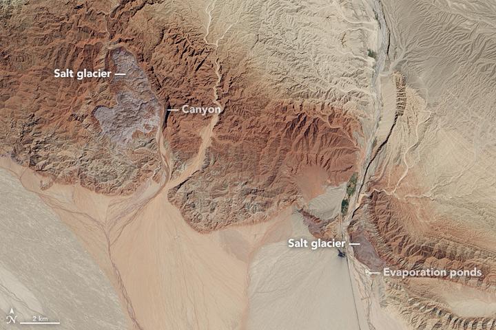 Glaciers de sel dans les montagnes Zagros d'Iran sortis du sol comme de la pâte dentifrice Awate_10