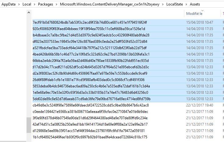Récupérer l'image d'accueil de Windows 10 Captur11