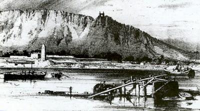 CPA avant les ponts suspendus de Marc Seguin, les bacs à traille Fiche510