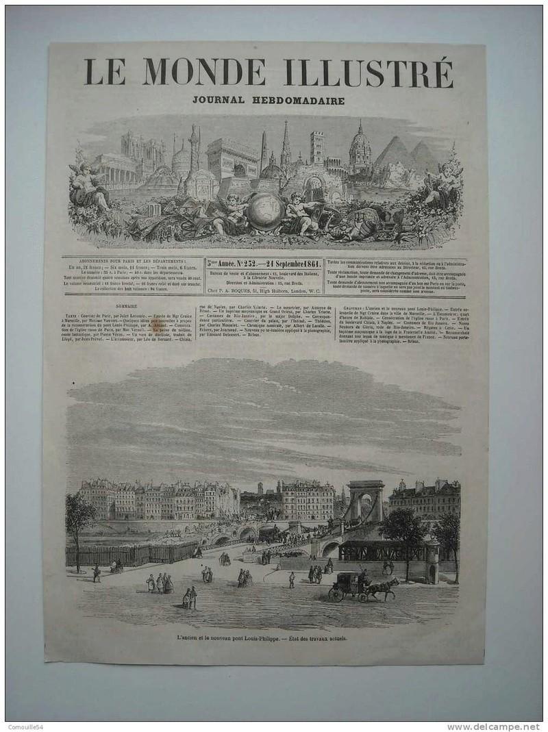 Vieux papiers et CPA : les ponts suspendus de Marc Seguin Louiph10