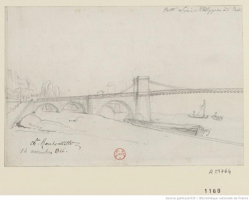 Vieux papiers et CPA : les ponts suspendus de Marc Seguin Louisp10