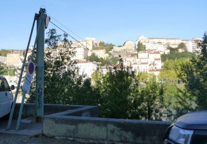 CPA avant les ponts suspendus de Marc Seguin, les bacs à traille Lyon_t10