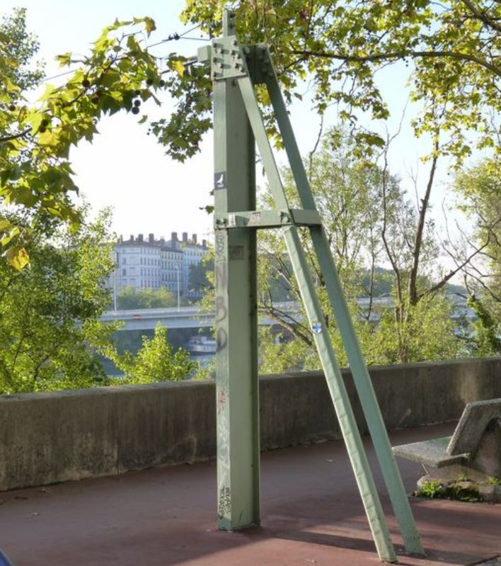 CPA avant les ponts suspendus de Marc Seguin, les bacs à traille Lyon_t11