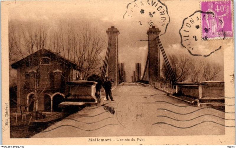 Vieux papiers et CPA : les ponts suspendus de Marc Seguin Mallem11