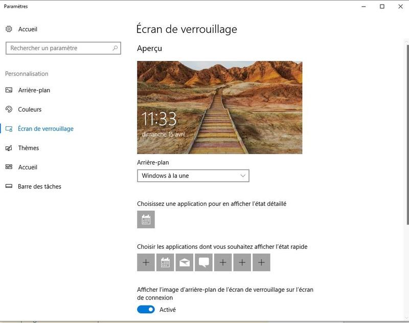 Récupérer l'image d'accueil de Windows 10 Paramy10