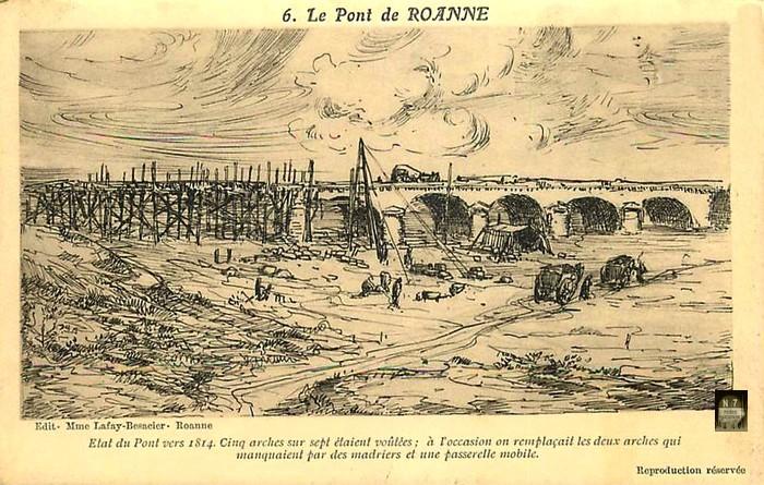 CPA avant les ponts suspendus de Marc Seguin, les bacs à traille Pont1810
