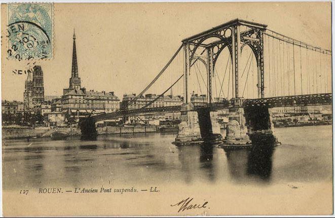 Vieux papiers et CPA : les ponts suspendus de Marc Seguin Rouen_11