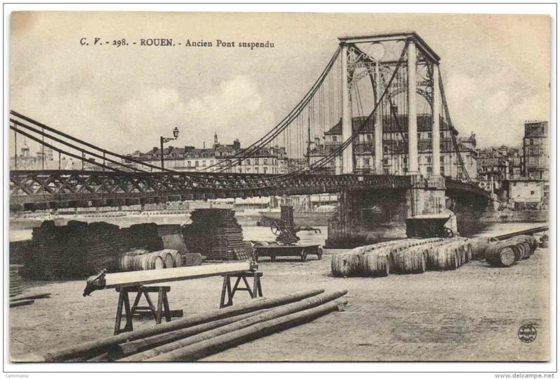 Vieux papiers et CPA : les ponts suspendus de Marc Seguin Rouen_12