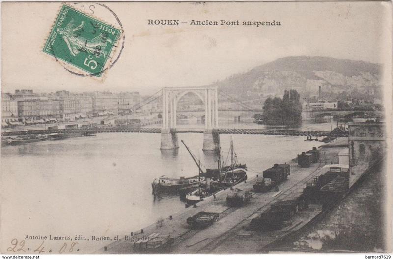 Vieux papiers et CPA : les ponts suspendus de Marc Seguin Rouen_13