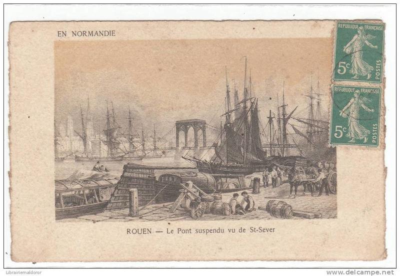 Vieux papiers et CPA : les ponts suspendus de Marc Seguin Rouen_14