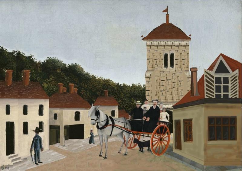 Et si Van Gogh était venu lui-aussi à La Bazouge? (Collages et pastiches) Rousso10