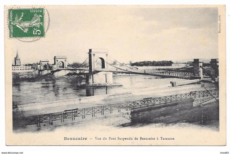 Vieux papiers et CPA : les ponts suspendus de Marc Seguin Tarasc10