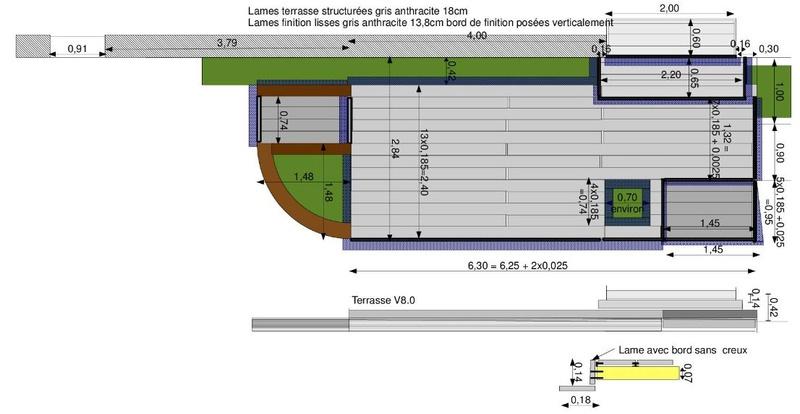 La nouvelle baie vitrée nous impose de créer une terrasse (en bois composite) Terras10
