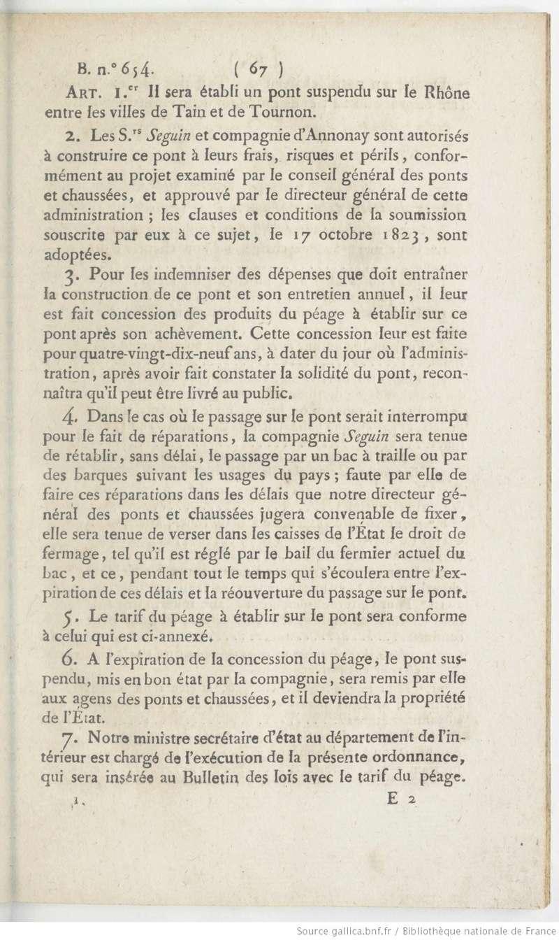 Vieux papiers et CPA : les ponts suspendus de Marc Seguin Tourno10