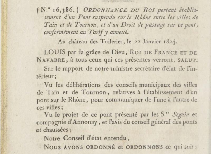Vieux papiers et CPA : les ponts suspendus de Marc Seguin Tourno11