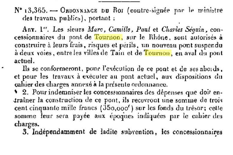 Vieux papiers et CPA : les ponts suspendus de Marc Seguin Tourno12
