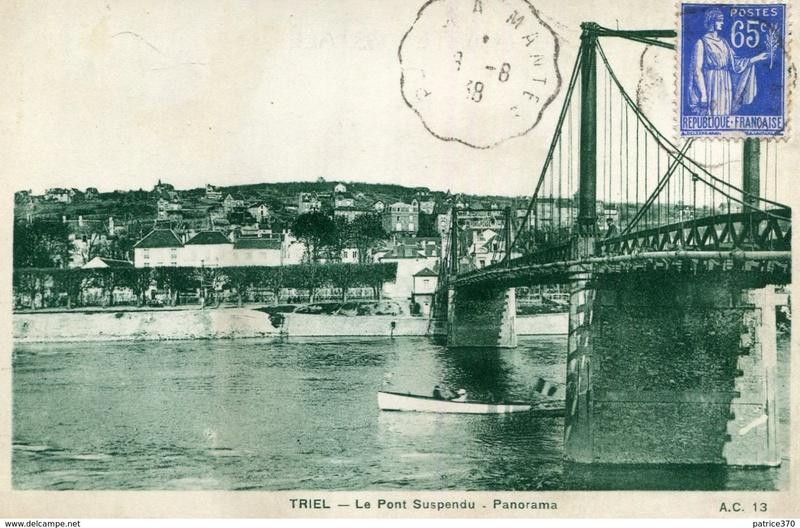 Vieux papiers et CPA : les ponts suspendus de Marc Seguin Triel_12