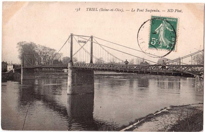 Vieux papiers et CPA : les ponts suspendus de Marc Seguin Triel_13