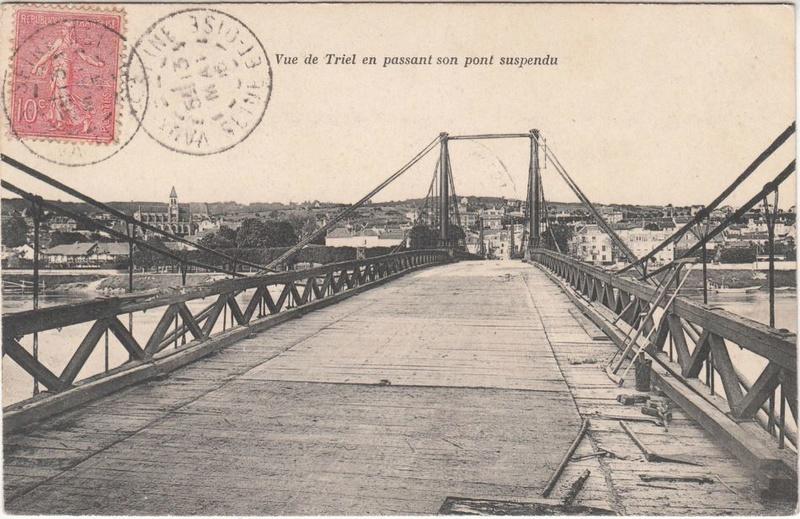 Vieux papiers et CPA : les ponts suspendus de Marc Seguin Triel_14