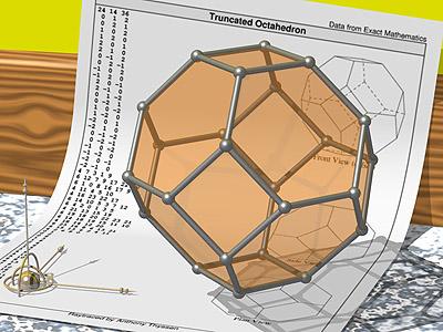 Construire des polyèdres en bois donc d'une certaine épaisseur Trunca10