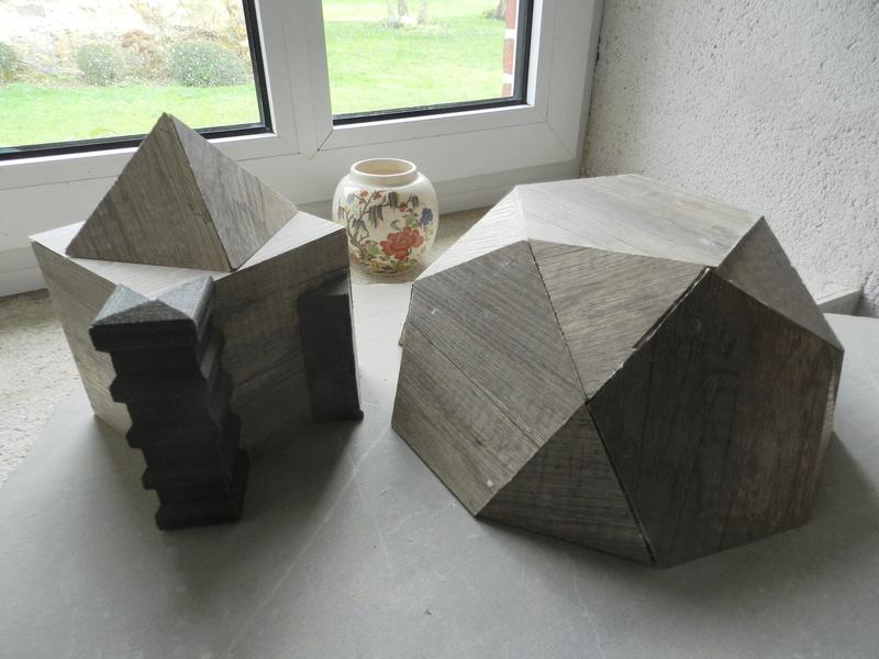Construire des polyèdres en bois donc d'une certaine épaisseur Vauvyr41