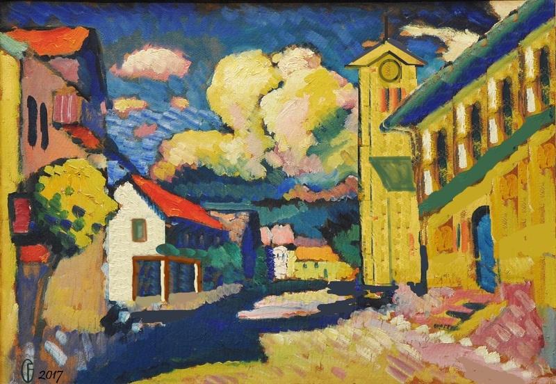Et si Van Gogh était venu lui-aussi à La Bazouge? (Collages et pastiches) Y_190810