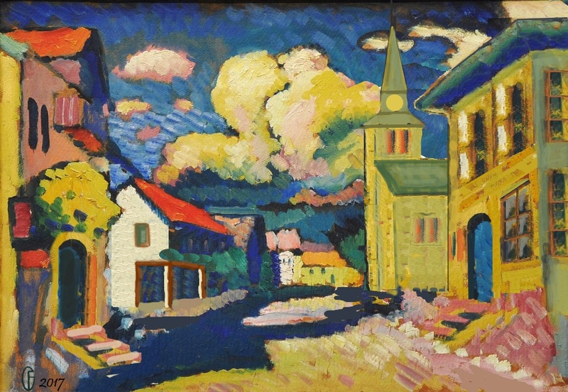 Et si Van Gogh était venu lui-aussi à La Bazouge? (Collages et pastiches) Y_190812