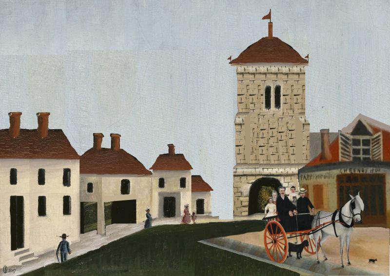Et si Van Gogh était venu lui-aussi à La Bazouge? (Collages et pastiches) Y_190914