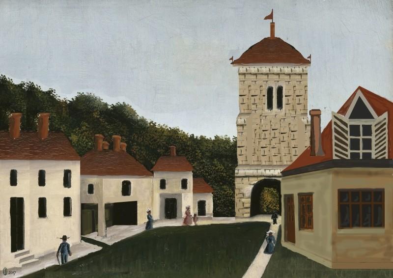 Et si Van Gogh était venu lui-aussi à La Bazouge? (Collages et pastiches) Y_190915