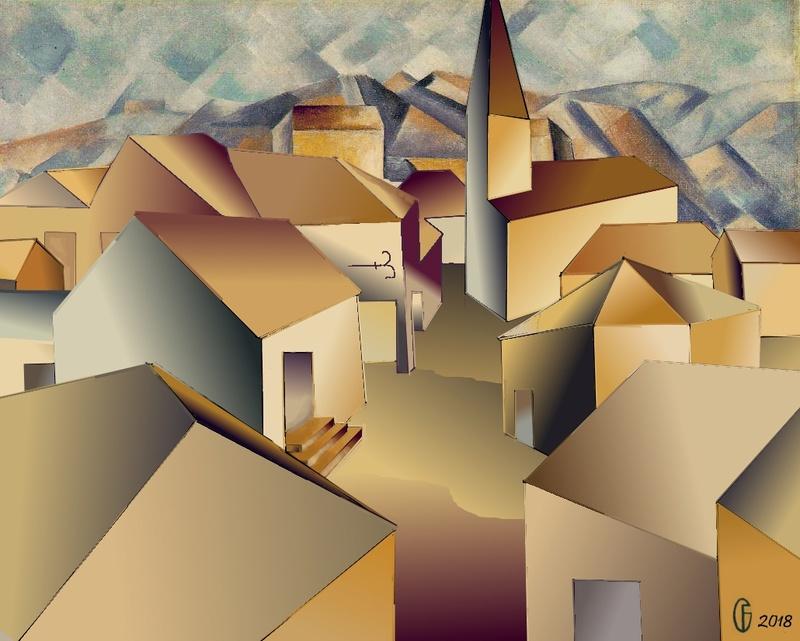 Et si Van Gogh était venu lui-aussi à La Bazouge? (Collages et pastiches) Y_190916