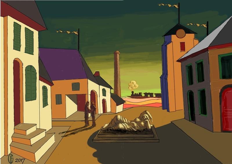 Et si Van Gogh était venu lui-aussi à La Bazouge? (Collages et pastiches) Y_191310