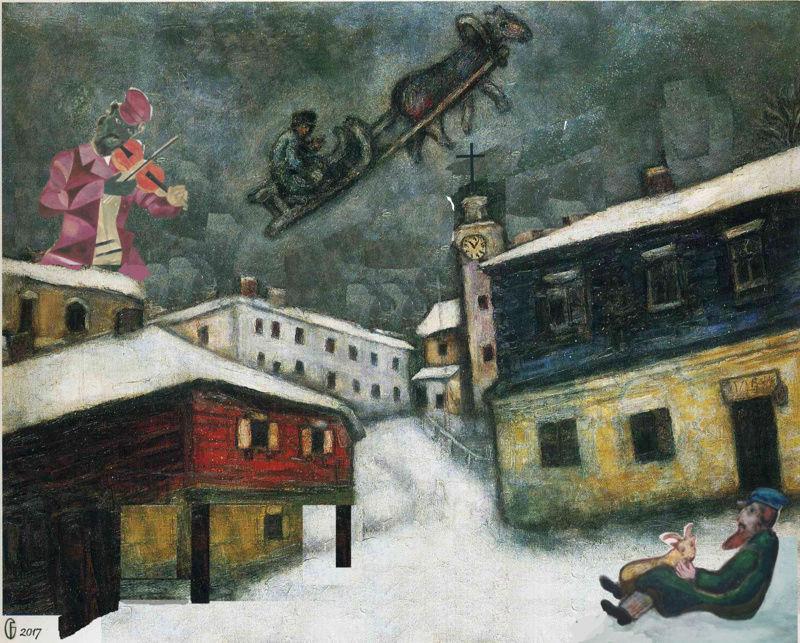 Et si Van Gogh était venu lui-aussi à La Bazouge? (Collages et pastiches) Y_192910