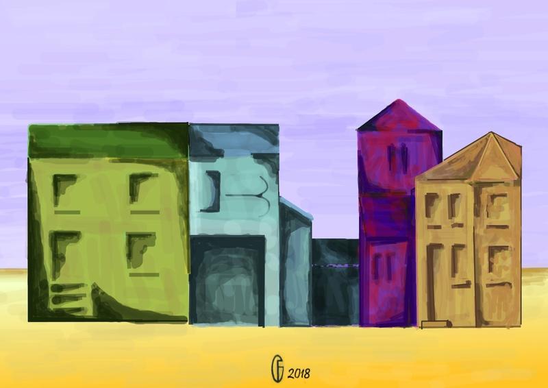 Et si Van Gogh était venu lui-aussi à La Bazouge? (Collages et pastiches) Y_195312