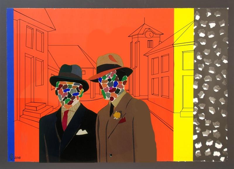 Et si Van Gogh était venu lui-aussi à La Bazouge? (Collages et pastiches) Y_197911
