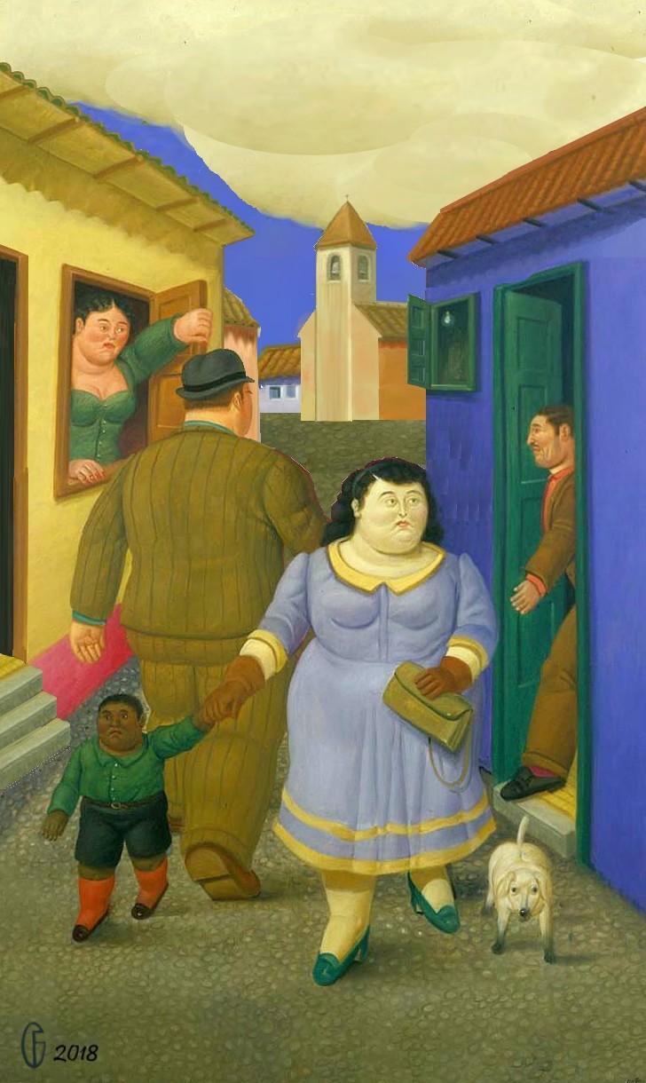 Et si Van Gogh était venu lui-aussi à La Bazouge? (Collages et pastiches) Y_200011