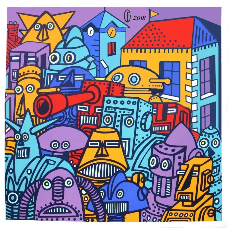 Et si Van Gogh était venu lui-aussi à La Bazouge? (Collages et pastiches) Y_201113