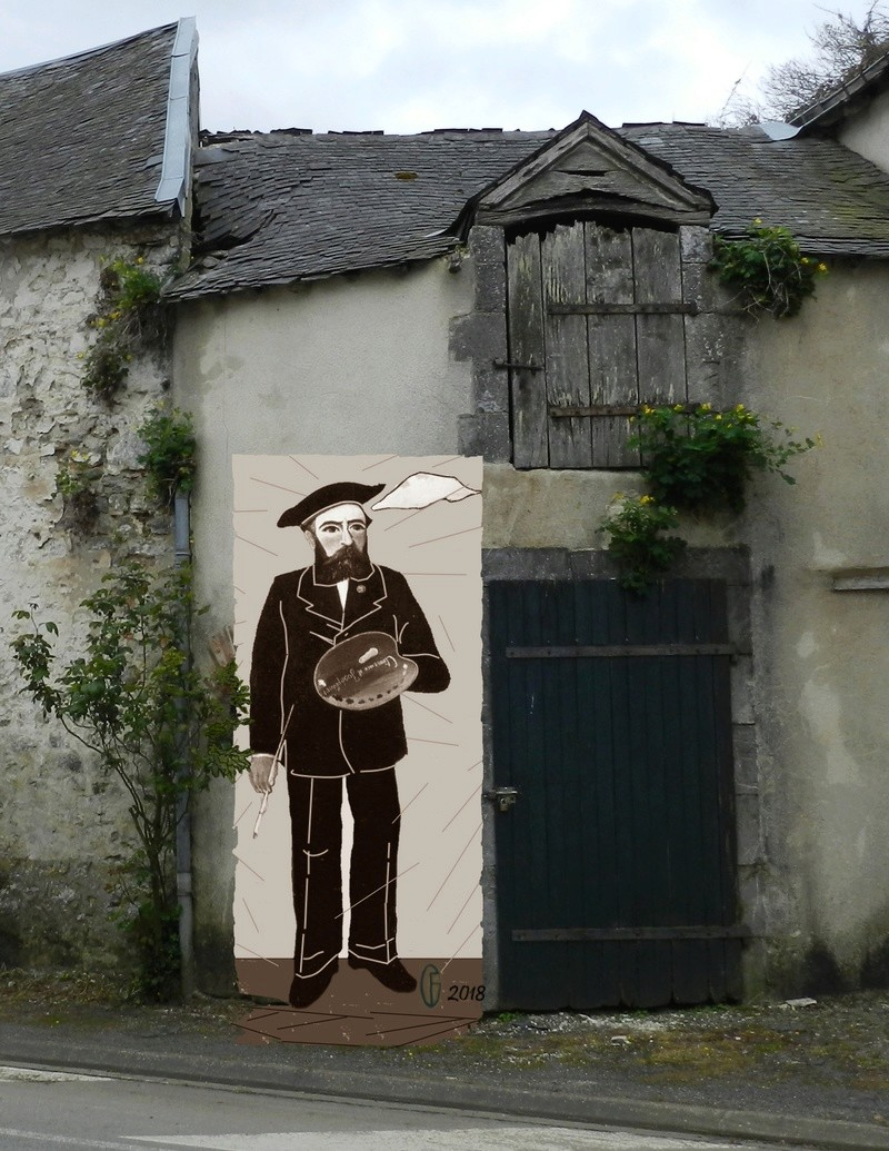 Et si Van Gogh était venu lui-aussi à La Bazouge? (Collages et pastiches) Y_201512