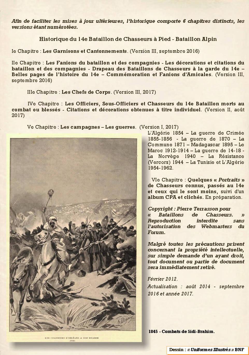 L'Historique du 14e Bataillon de Chasseurs. 1854 - 1962 Page_117