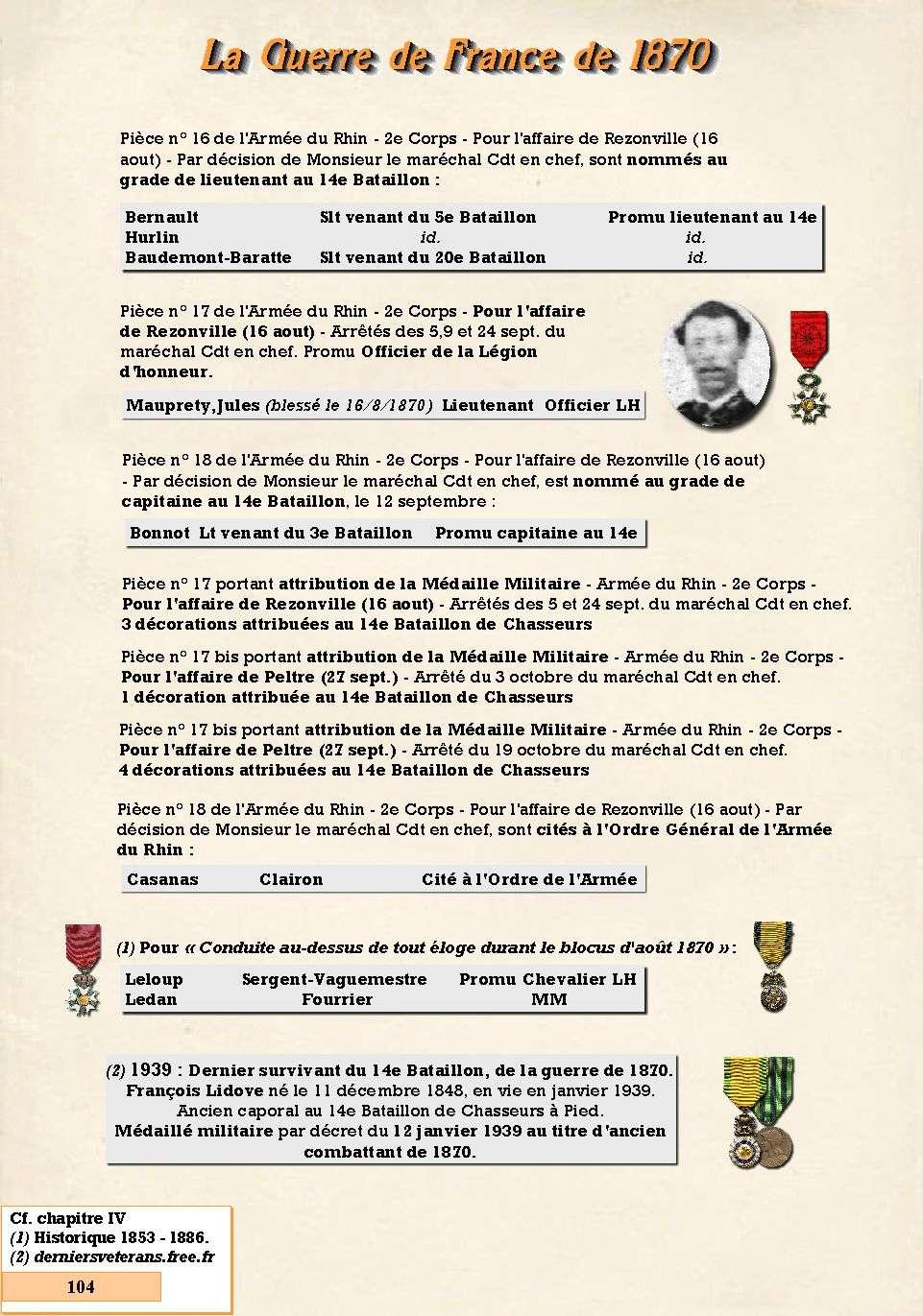 L'Historique du 14e Bataillon de Chasseurs. 1854 - 1962 Page_129