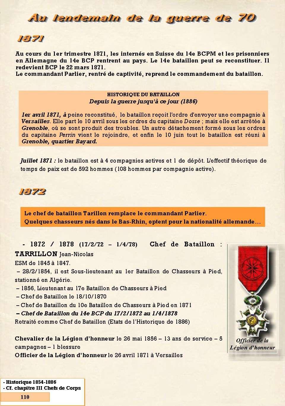 L'Historique du 14e Bataillon de Chasseurs. 1854 - 1962 Page_131