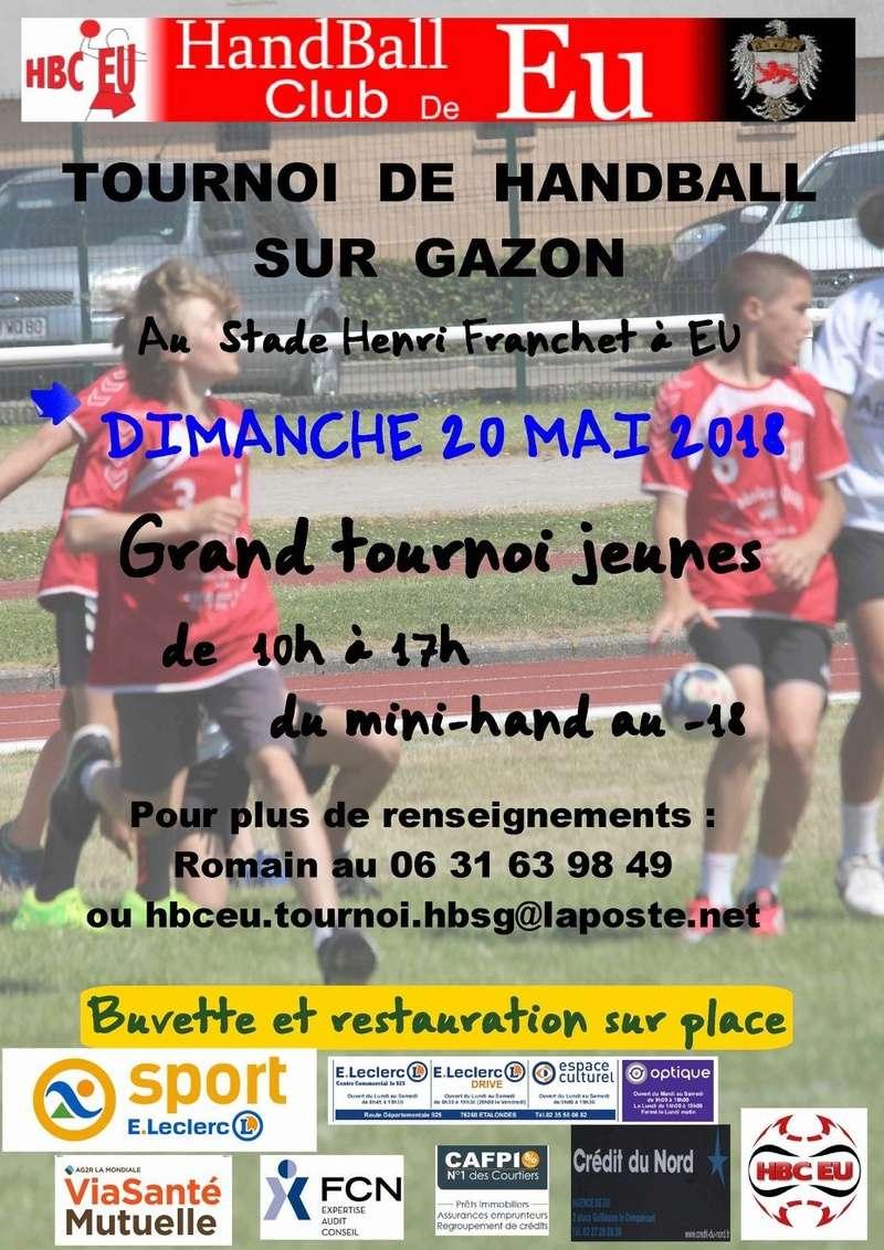 le 20 mai Tournoi sur herbe du Handball Club de Eu Affich11