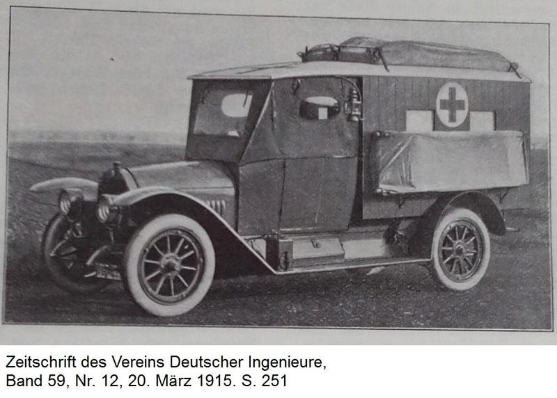 """""""Ein Motorwagen zur Beförderung von Verwundeten"""" - Erster Weltkrieg 113"""