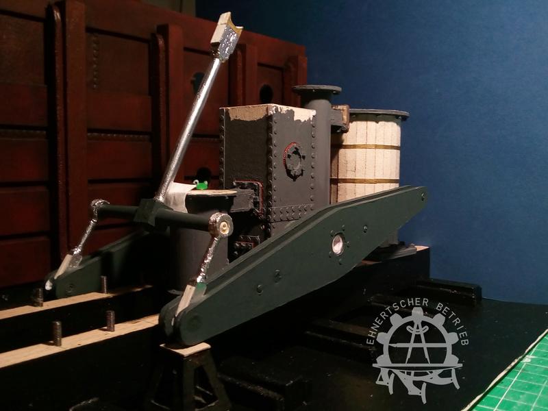 """Dampfmaschine des Dampfbootes """"Königin Maria"""" von 1837 - M1:15 - Seite 5 2017-142"""