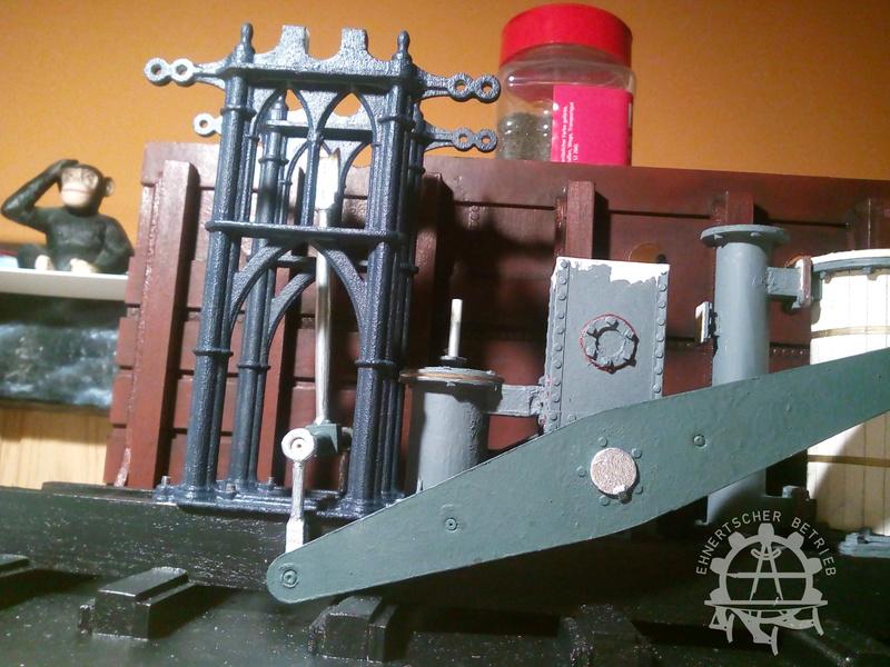 """Dampfmaschine des Dampfbootes """"Königin Maria"""" von 1837 - M1:15 - Seite 5 2017-147"""