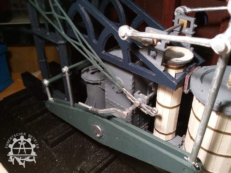 """Dampfmaschine des Dampfbootes """"Königin Maria"""" von 1837 - M1:15 - Seite 5 2017-166"""