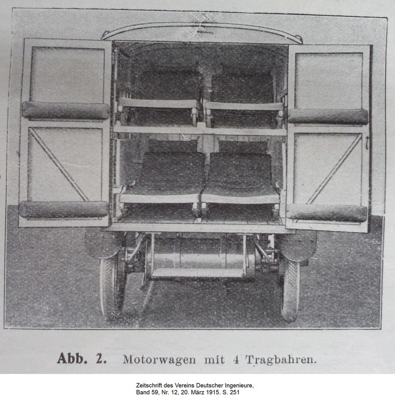 """""""Ein Motorwagen zur Beförderung von Verwundeten"""" - Erster Weltkrieg 211"""