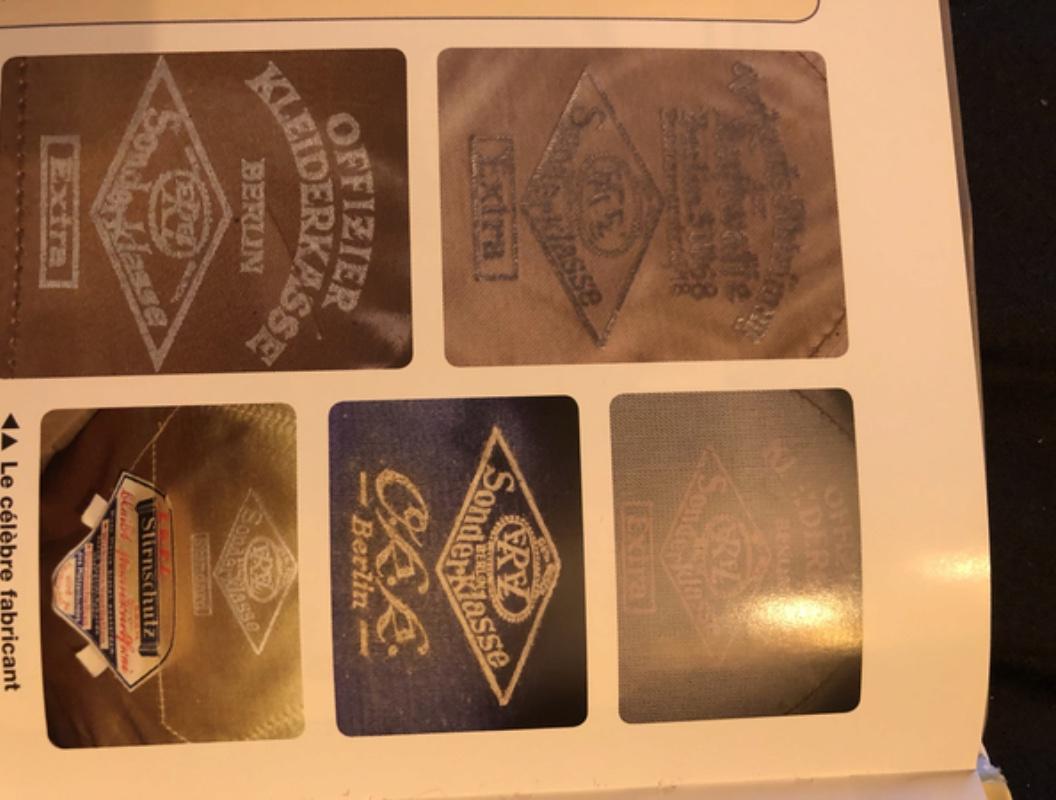 identification casquette luftwaffe 60056410